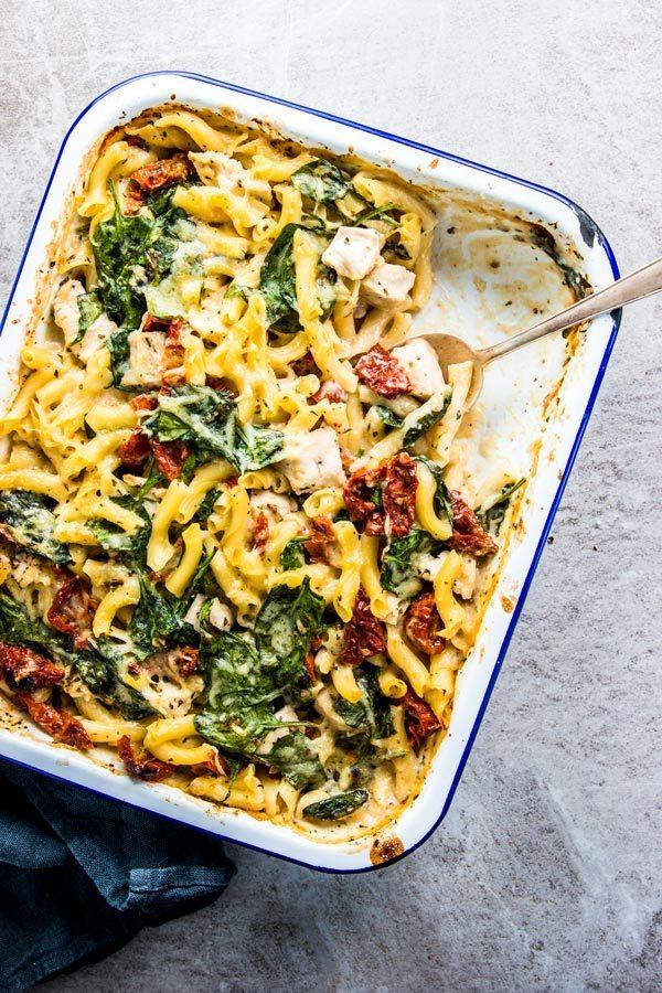Chicken Florentine Pasta Casserole