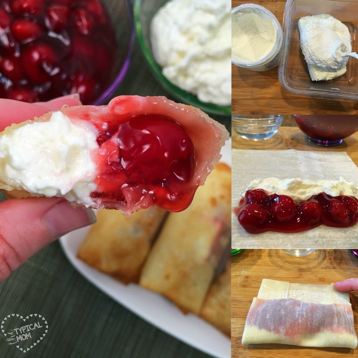 Cherry Cheesecake Egg Rolls