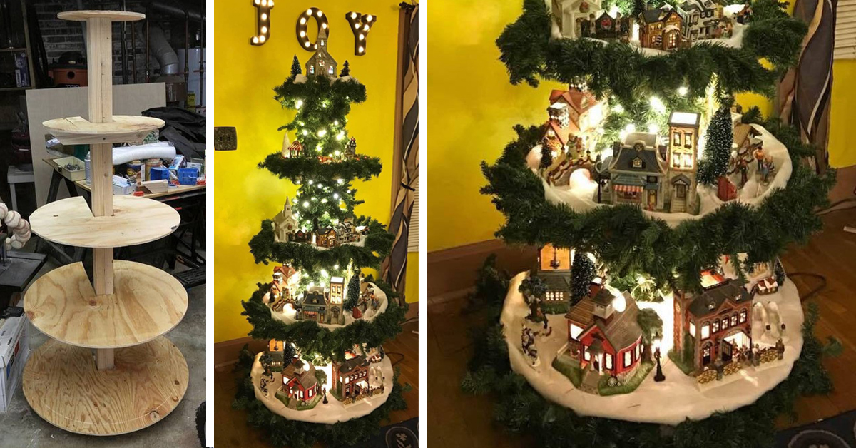 How To Make Your Own Christmas Village Display Tree