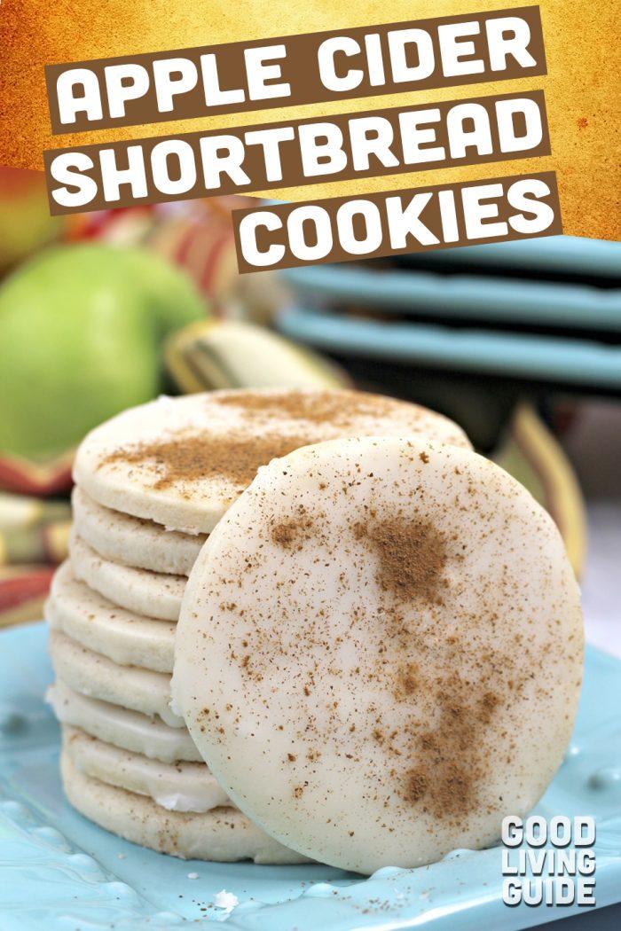 Apple Cider Shortbread Cookies