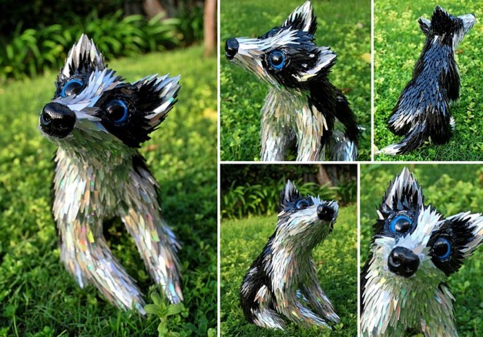 Artist Turns Old CDs Into Amazing Lifelike Animal Sculptures