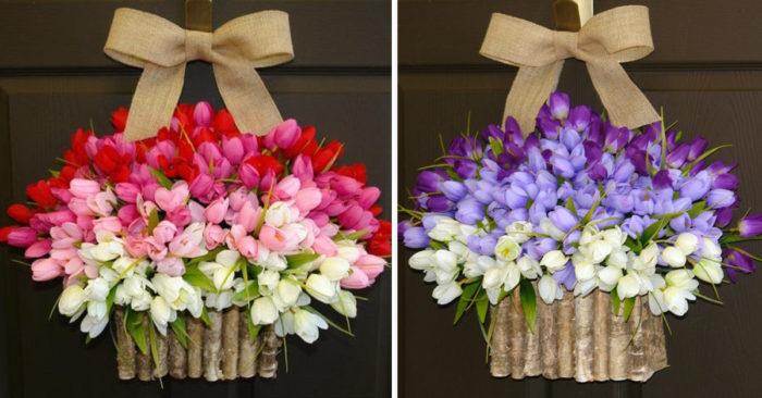 Spring Tulip Wreaths