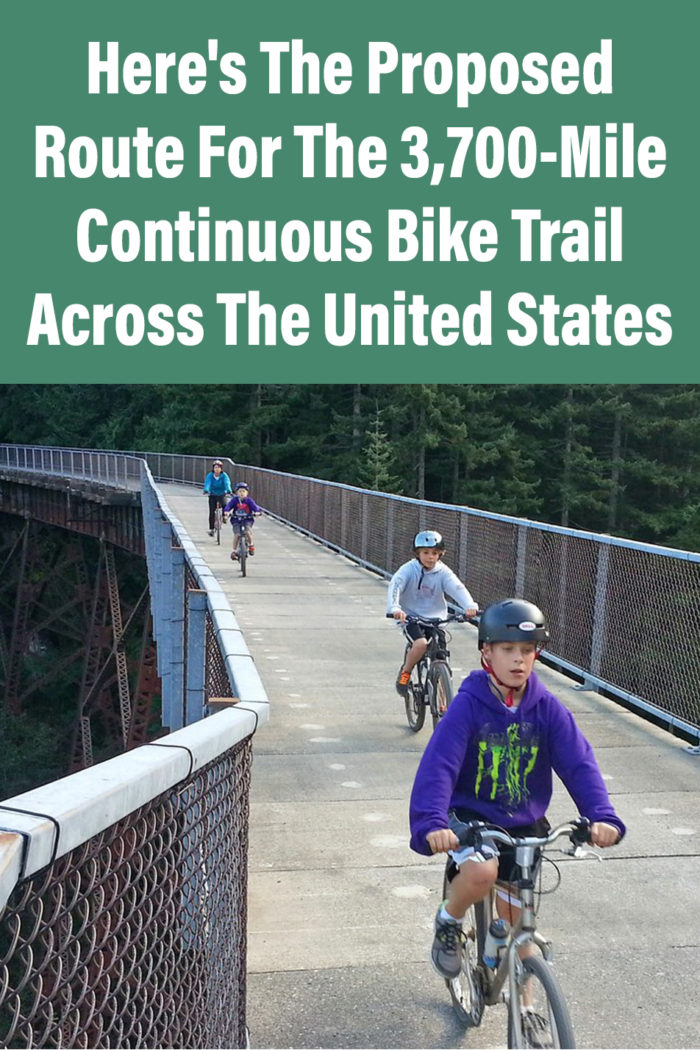 Here's The Proposed Route For The 3,700-Mile Continuous Bike Trail Across The United States