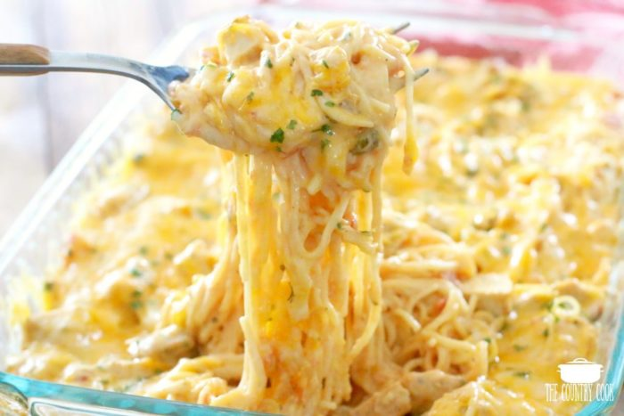 The Best Chicken Spaghetti