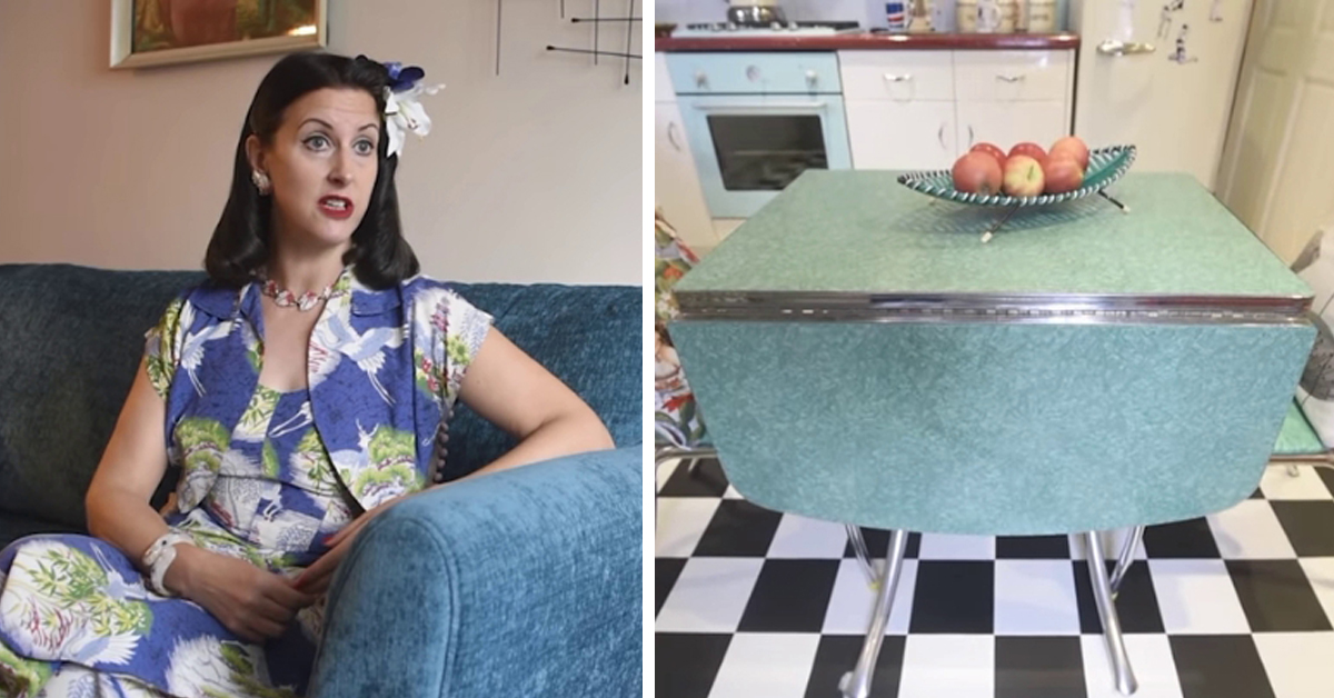 Woman Obsessed with the 1950s Transforms Her Home Into A Mid-Century Mecca
