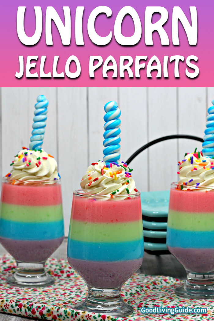 Unicorn Jello Parfaits