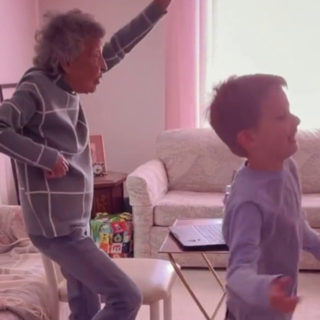 102-Year-Old Great-Grandmother Joins First-Grade Virtual Gym Class