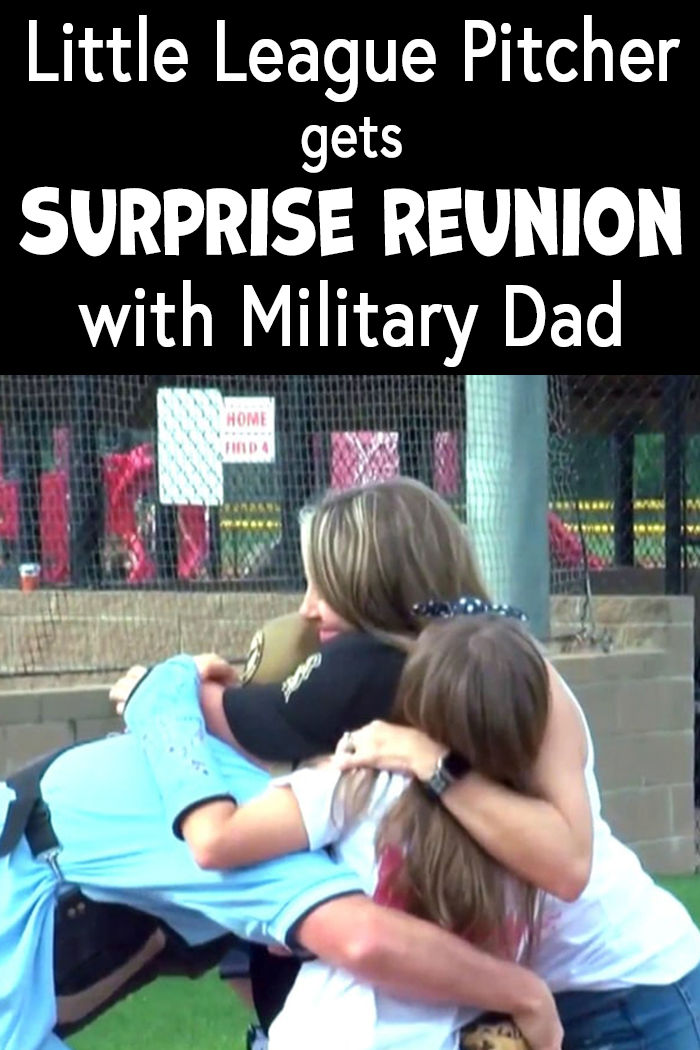 Little League Pitcher Gets Surprise Reunion With Military Dad