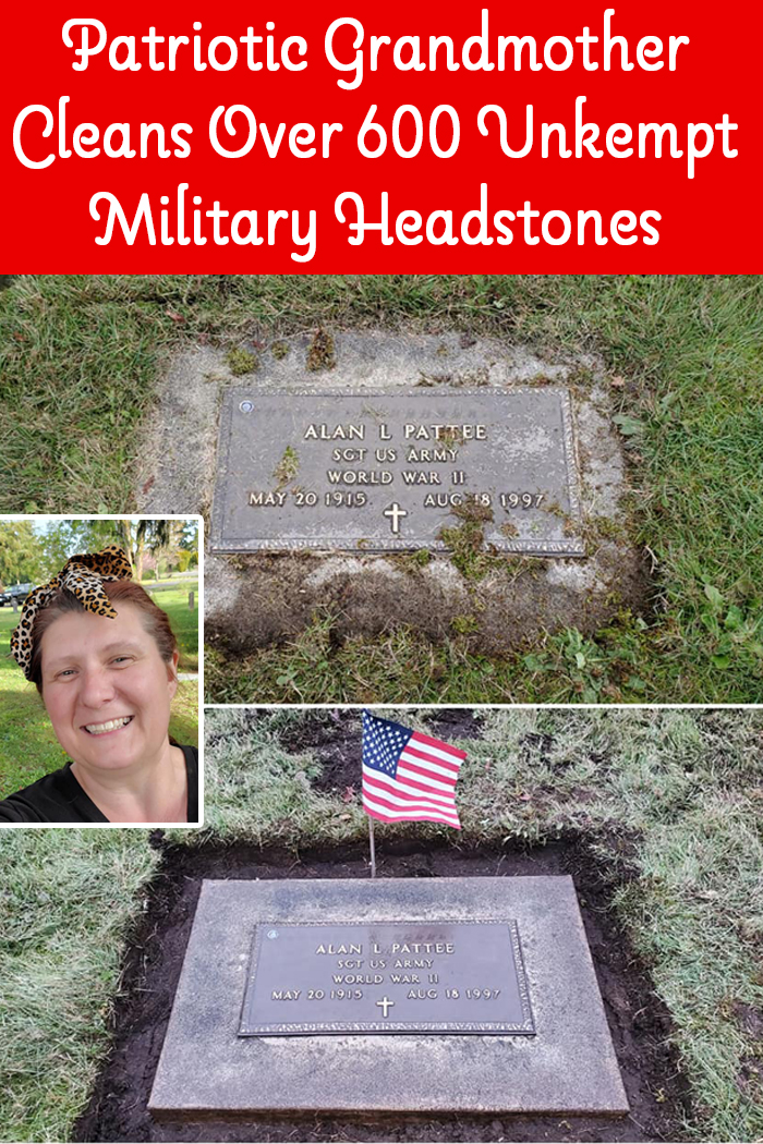 Patriotic Grandmother Cleans Over 600 Unkempt Military Headstones