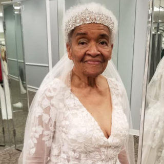 94-Year-Old Woman tries on Wedding Dress for the Very First Time