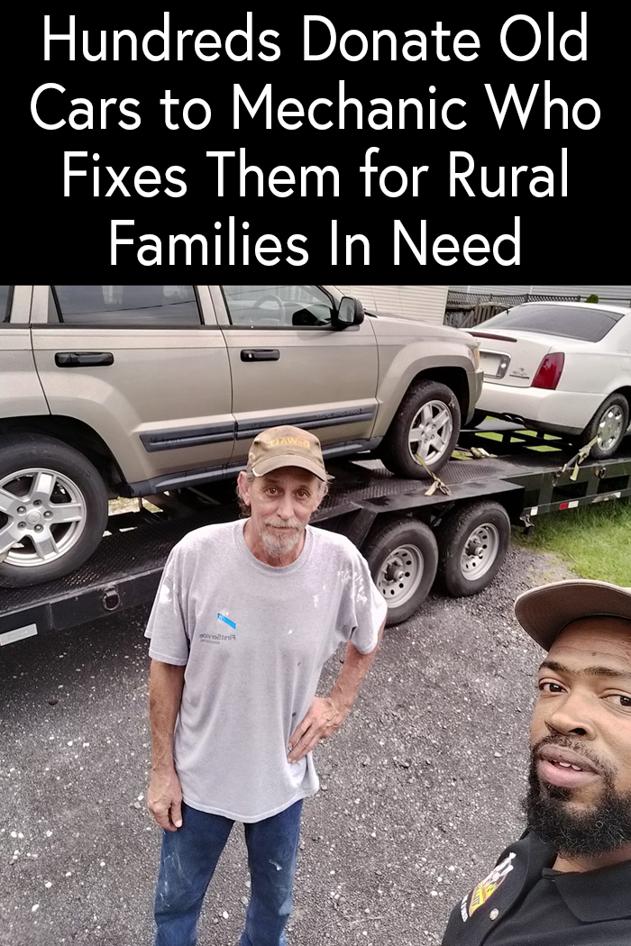 Hundreds Donate Old Cars to Mechanic Who Fixes Them for Rural Families In Need